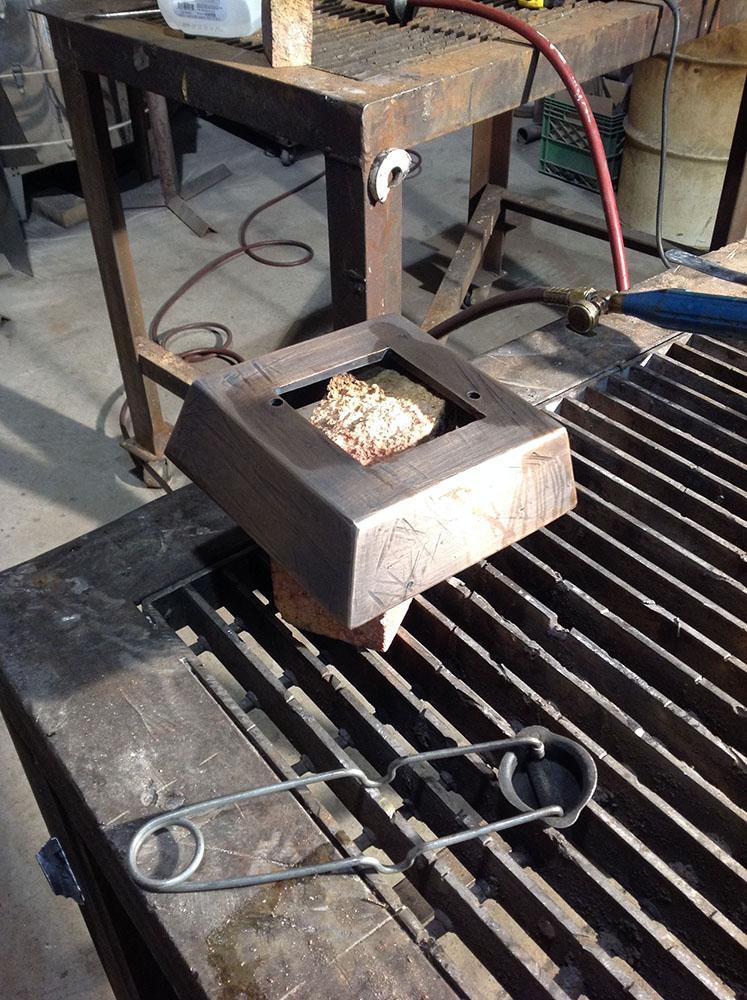 sculpture in process, cast in bronze