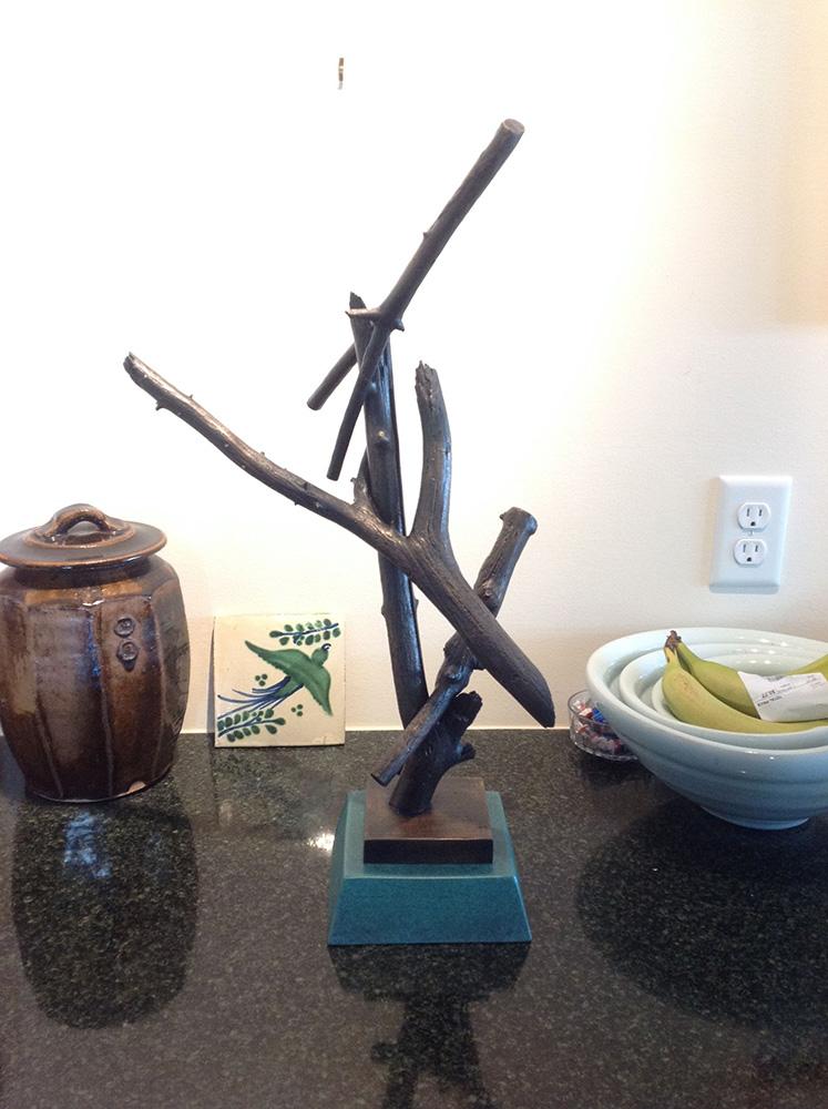 sculpture cast in bronze